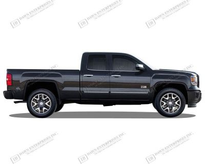 Gmc Sierra 1500 Painted Body Side Mouldings With Chrome Insert Trim 2014-2015