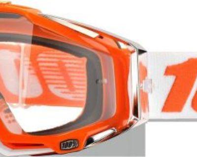 100% Racecraft Goggles Motorcycle Mandarina 2 Clear Lens 50100-092-02