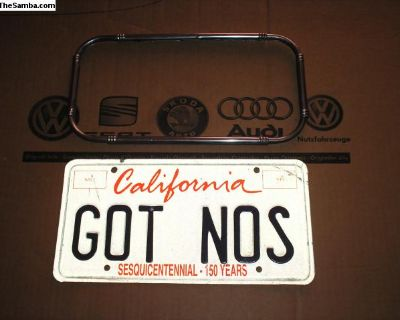 license plate frame,old school.htf.
