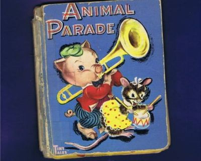 "Vintage 1947, 1949 Children's Miniature Book - Tiny Tales - ""Animal Parade"""