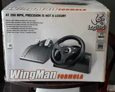 Logitech Wingman Formula Steering and Pedals.