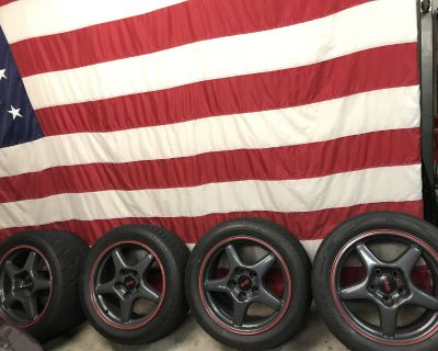 Set of (4) C4 ZR1 Metallic Gray Wheels and Tires forsale