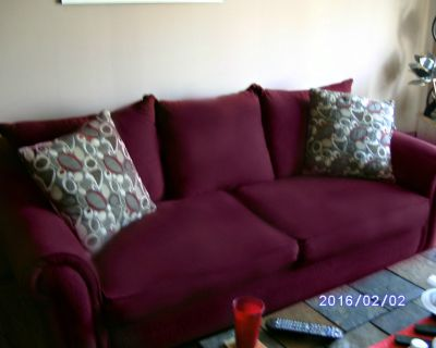 Matching Burgundy Couch and love Seat