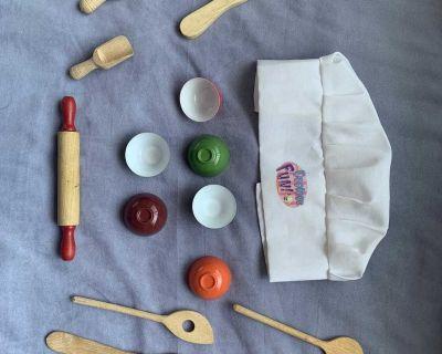 Vintage toy cooking kit
