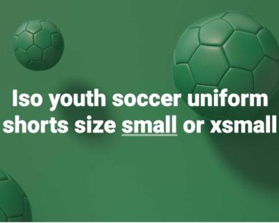 Iso...youth ayso soccer shorts size small or xsmall