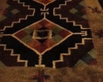 Vintage Perla Genuine Hand Woven Chenille Rugs Native American
