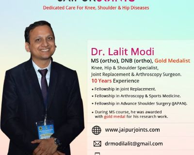 Get the most effective knee replacement surgery in Jaipur by Dr. Lalit Modi is the best knee replace