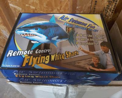 Brand new Remote control flying white shark