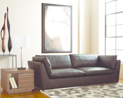 *New* Brown Leather Sectional