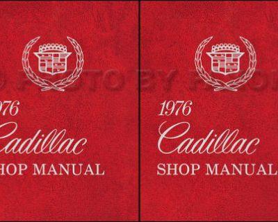 1976 Cadillac Shop Manual 76 Deville Eldorado Fleetwood Calais Repair Service