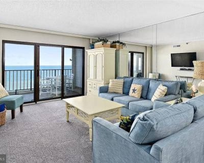 Daily Activities Included*! Ocean view balcony access from living room and master bedroom - North Ocean City