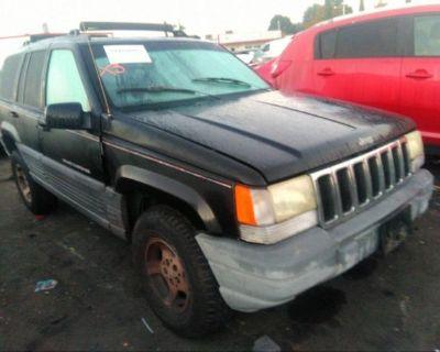 Salvage Black 1996 Jeep Grand Cherokee