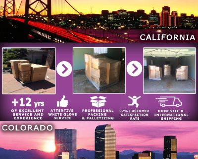 Packing Service, Inc. Shipping Services and Palletizing Boxes - San Fracisco, California
