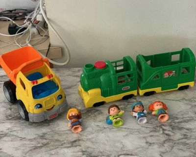 Fisher price little people sounds train and truck