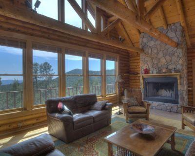 Log Home Near Santa Fe, New Mexico with Million Dollar View - Pecos