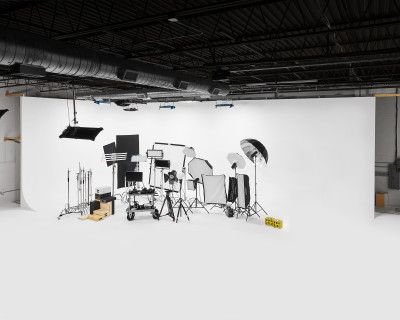 Downtown 5000sq ft Film and Photography Studio with 40' Cyc Wall and Cove, Garage Door to drive into Studio, Green Room, Hair and Makeup, Kitchen, Open Spaces, Louisville, KY