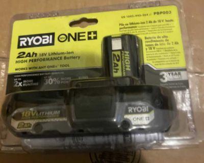 New Ryobi 18v battery