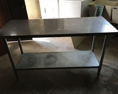 Stainless steel nsf table