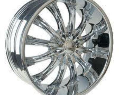 "28""chrome Wheels Bentchi B15 Cadillac Escalade 04-11"