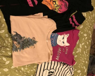 3 long sleeve shirts and one zip up jacket size 14