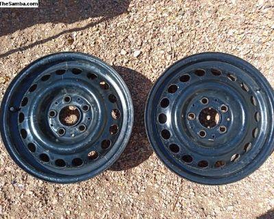 15x6 Mercedes steel wheels (set of 2) 5x112