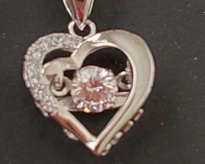 White gold pendant