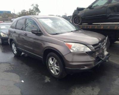 Salvage Gray 2010 Honda Cr-v