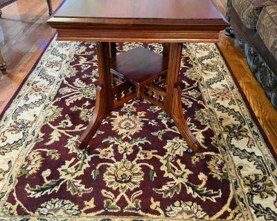 Mahogany Victorian Parlor Table