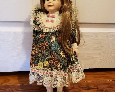 """Greensboro Collection Porcelain Doll """"Daisy"""""""