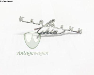 Karmann Ghia Emblem, Chrome