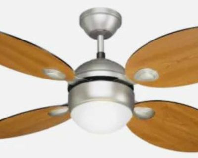 NOMA Scandinavian Fan with Light Fixture and Remote, 4-Blade, 42-in
