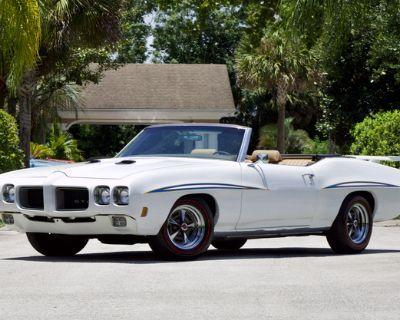 1970 Pontiac GTO All-Steel Convertible Restored Turbo-Hydramatic Split Grille Engine Swap
