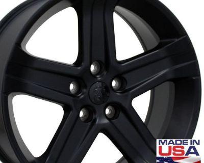 "One 22"" Fits Dodge 1500 Style Wheel Matte Black 22x9 Rim B1w"