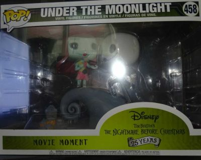 FUNKO POP DISNEY'S THE NIGHTMARE BEFORE CHRISTMAS UNDER TH MOONLIGHT MOVIE MOMENT, MORE PICS IN COMMENTS