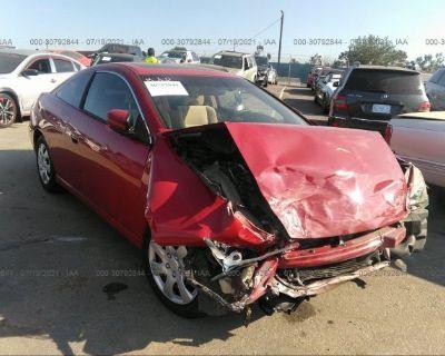 Salvage Red 2006 Honda Accord Cpe