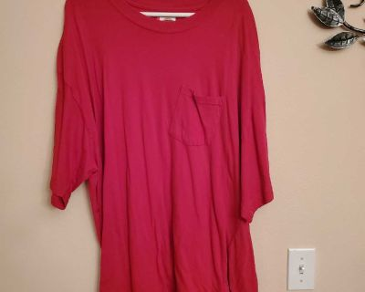 3XL, DICKIES, RED T-SHIRT, EXCELLENT CONDITION, SMOKE FREE HOUSE