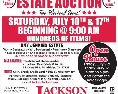 Absolute Estate Auction of the Ray Jenkins Estate Day 1