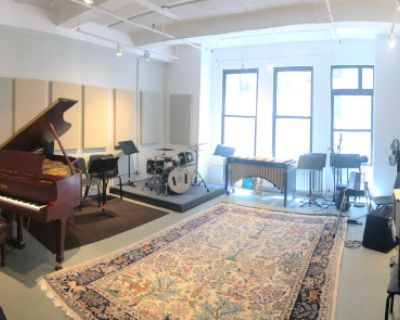 Large Room with Natural Light Perfect for Music Rehearsals, NewYork, NY