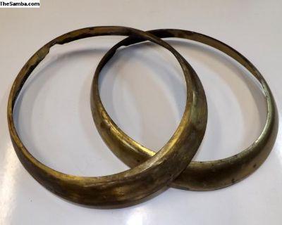 Porsche Brass Headlight Trim Rings