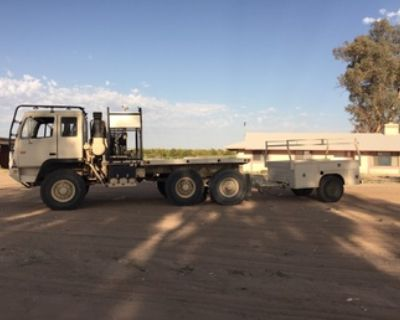 2004 Stewart & Stevenson 6x6 Military Hauler with Trailer and accessories