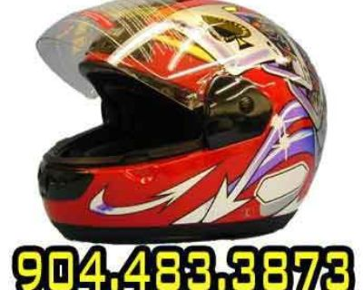 Max603 Dot Red Poker Full Face Motorcycle Helmet Xlarge