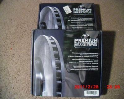2 Front Brake Rotors for Honda Accord / Civic