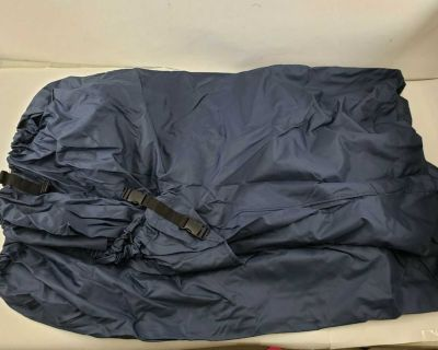 NEW Navy Blue Water Repellent Mildew Resistant V-Hull Fishing BOAT COVER