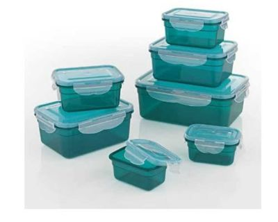 7 Piece with Airtight Lids BPA-Free Food Storage Container-Set, Dishwasher, Freezer, Microwave Safe