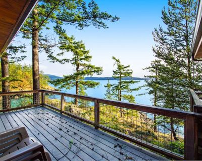 Rustic waterfront cabin w/ free WiFi, a full kitchen, & furnished decks - Orcas