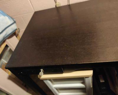 Huge Black Wood Desk/Work Station 59 in x 29.5 in x 29.5 in