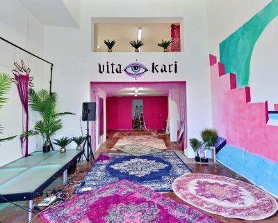 VITA PAPRIKA - Psychedelic Creative Studio/Event Space Loft with Mediterranean Mural, Los Angeles, CA