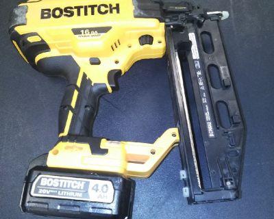 Bostitch 16 gauge finish gun 20 volt