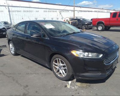 Salvage Black 2013 Ford Fusion