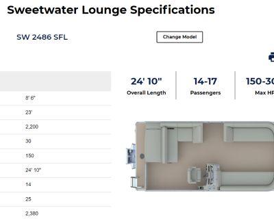 2022 Sweetwater 2486SFL Pontoon Boats Lafayette, LA